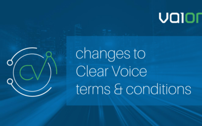 Changes to Clear Voice Terms & Conditions