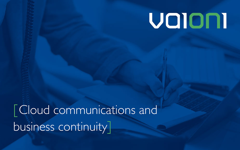 Cloud communications and business continuity